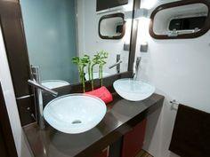 SEAZEN II | Luxury yacht charters | Catamaran for charter | Sunreef Yachts Charter Power Boats, Luxury Yachts, Catamaran, Interior Ideas, Bathroom, Home Decor, Washroom, Decoration Home, Room Decor