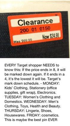 Target discount tip.....