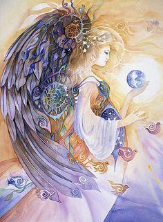 helena nelson #reed #angel #myths #art #painting #illustration #woman #goddess