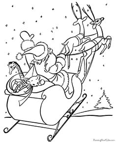 Free Printable Christmas Coloring Pictures!