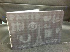 handmade eiffel tower A5 book.