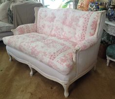 Vintage Cottage French Country Sofa Loveseat By Bleugardenia On Etsy Https