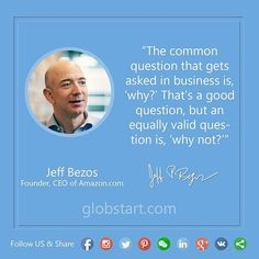 Remarkable quote from the founder of Amazon Jeff Bezos. Just think about how many opportunities are missed because people don't believe in some ideas or actions.  Double tap if you agree! Follow us to get more interesting posts.  #leader #startup #life #Instagram #work #motivation #inspiration #quotes #dream #success #hardwork #fail #winner #работа #inspirational #день #grow #company #office #entrepreneur  #мотивация #ceo #entrepreneurship  #успех #failure #successful #business #money #quote