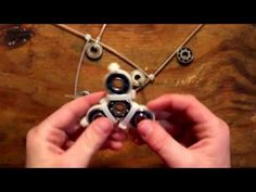 How to make a fidget spinner with zip ties - YouTube