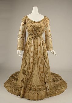 Dress, Evening  Date: 1907 Culture: European Medium: [no medium available] Dimensions: [no dimensions available] Credit Line: Rogers Fund, 1937 Accession Number: 37.94 http://www.metmuseum.org/