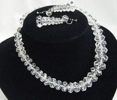 Sterling and rock crystal necklace