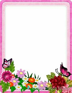 สวนสวย Frame Border Design, Boarder Designs, Page Borders Design, Old Paper Background, Flower Background Wallpaper, Leaf Template Printable, Boarders And Frames, School Frame, Easy Coloring Pages
