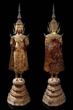 Culture Of Thailand, Art Thai, Buddhist Art, Sacred Art, Buddha, Reflection, Statue, Antiques, Amazing