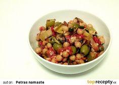 Cizrna po italsku recept - TopRecepty.cz New Menu, Quinoa, Dog Food Recipes, Beans, Food And Drink, Vegetables, Fitness, Chickpeas, Bulgur