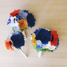 Handmade felt flower bouquets