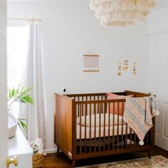 Brought to you in collaboration with west elm, our GREENGUARD Gold certified Mid-Century Nursery Collection combines timeless style with durable craftsmanship. Each piece is made in a Fair Trade Certified™ facility from sustainably sourced w… Baby Boy Rooms, Baby Cribs, Kids Rooms, Baby Crib Diy, Baby Bedroom, Kids Bedroom, Baby Baby, Nursery Furniture, Nursery Decor
