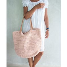 Crochet Tote KIT - MOORITKits - Envelope is a unique online shopping mall made up of a few independent shops from all around Japan. Crochet Tote, Knit Crochet, Beauty And Fashion, Style Fashion, Basket Bag, Simple Bags, T Shirt Yarn, Beach Tote Bags, Summer Bags