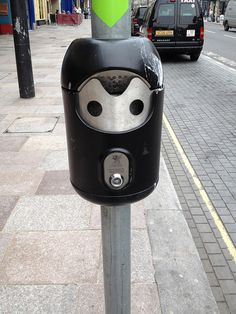I spotted this Cyberman just after getting off a train in Cardiff.