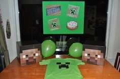 Gravity of Motion: WFMW: Minecraft Party Great ideas here for mothers of minecrafters September Birthday, 11th Birthday, Birthday Parties, Birthday Ideas, Birthday Stuff, Birthday Cake, Minecraft Birthday Party, Party Gifts, Party Planning