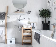 How much does a bathroom renovation cost? Bohemian Bathroom, Bathroom Renovation Cost, Bathroom Makeover, Round Mirror Bathroom, Sloped Ceiling Bathroom, Ikea Bathroom, Bathroom Design, Bathroom Decor, Small Bathroom Makeover