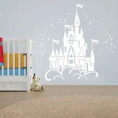 Floating Disney Fairy Castle Wall Sticker Vinyl Decal by WallChick
