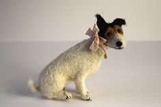 Wonderful needle felted terrier by Domenica More Gordon / The Dog Sale