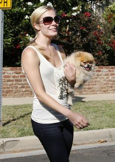 LeAnn Rimes and a friend out walking their dogs in Santa Monica, CA.
