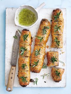 lamb, rosemary and mint sausage rolls