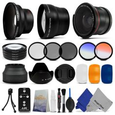 Essential lens and filter kit for CANON EOS 1000D 1100D 600D 550D 500D 450D