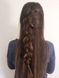Half Up Dutch Braid Tutorial Tree Braids Hairstyles, Cute Hairstyles, Braided Hairstyles, Hairstyles Videos, Triangle Box Braids, 5 Minute Hairstyles, Hair Issues, Natural Hair Styles, Long Hair Styles