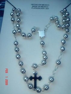 Silver Rosaries from Taxco, Mexico