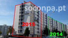 Reparação, isolamento e pintura de edifício com plataformas suspensas - Telheiras