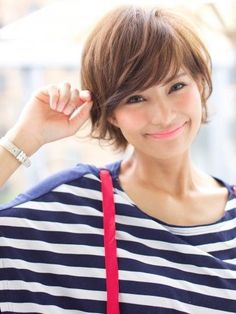 Choose hairstyles according to your face shape and personality . - New Hair Styles Pretty Hairstyles, Bob Hairstyles, Ladies Hairstyles, Short Hair Cuts, Short Hair Styles, Bangs Short Hair, Messy Bangs, Messy Pixie, Short Layered Haircuts