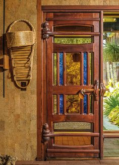 Arts and Crafts door at Sam Maloof's house in California