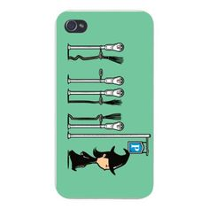Parking-Witch-Broomstick-Park-Meters-FITS-iPhone-5-5s-Plastic-Snap-On-Case