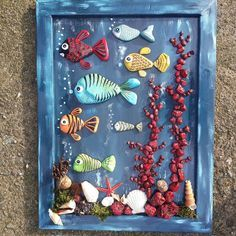 ~ PAINTED ROCKS ~ Under the Sea Fish designs