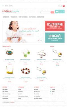 Prestashop template #jewelry #ecommerce #responsive
