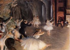 The Rehearsal on Stage 1874 | Edgar Degas | Oil Painting