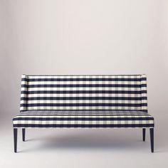 Lenox Bench - Windowpane Plaid | All Furniture | Furniture