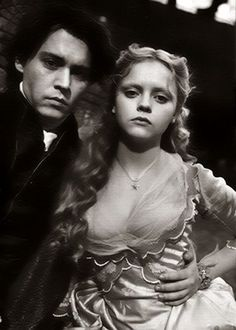 with the beautiful Christina Ricci on set of Sleepy Hollow for Entertainment Weekly magazine, 1999  (photographer: Mary Ellen Mark)
