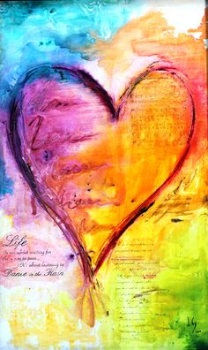 This Gallery Showcases a Selection of Touching and Original Heart Paintings. Every Heart Painting has its own unique style and message. Heart Painting, Love Painting, Painting & Drawing, Collage Kunst, Whatsapp Wallpaper, Heart Art, Art Journal Pages, Online Art Gallery, Mixed Media Art