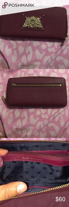 Juicy couture wallet Like new! Back zipper broken, only the little part from where you grab it, opens and closes perfectly! 100% authentic! (if you think the price is high make me an offer) ;) Juicy Couture Bags Wallets