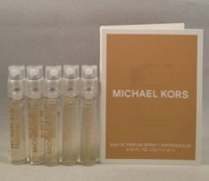 5 Michael Kors Mk EDP Spray Sample Vial .05 Oz/1.5 Ml for Women * Wow! I love this. Check it out now! : Travel Perfume and fragrance