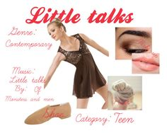 """""""Little talks"""" by peacemya ❤ liked on Polyvore featuring Bloch and Too Faced Cosmetics"""