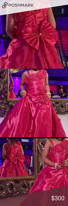 Kids gown Beautiful dark pink gown for size5t/6t Dresses Formal
