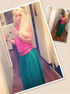 Summer green skirt