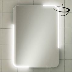 Stunning feature LED illuminated mirror with softly curved corners Sensor switch turns on\& the LED lighting Heated demister pad for a steam free mirror Can be hung in a portrait or landscape orientation Available in two sizes Lit Mirror, Corner Mirror, Over The Door Mirror, Dresser With Mirror, Mirror Store, Steam Free, Electric Mirror, Overmantle Mirror