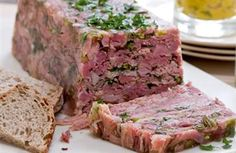Ham hock terrine. going to be tough to convince people to eat it.
