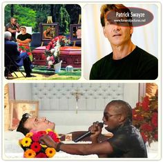 images of celebrity open casket funerals - Patrick Swazye: