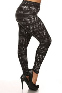 ad254e36fdf88 Leggings Depot NEW ARRIVALS Womens Popular BEST Printed Plus Fashion  Leggings Batch3 True Ebony * See