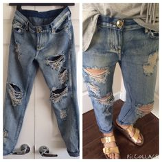 "One Teaspoon Distressed Jeans Cool and casual distressed pants. Excellent worn condition. 14.6"" waist 8.5"" rise 26"" inseam One Teaspoon Jeans"