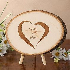 Totally IN LOVE with this!!!! What a creative Wedding Gift idea! It's a Tree Plaque you can personalize with their names and wedding date - only $23.95! Definitely going to be my new go-to gift! #wedding