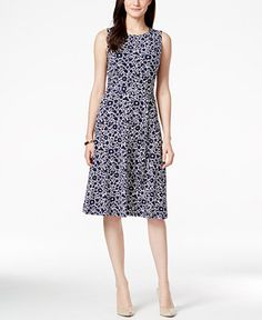 Charter Club Petite Sleeveless Floral-Print Midi Dress, Only at Macy's - Dresses - Women - Macy's