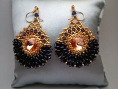 Tutorial Royal Purple Cleopatra Earrings by RenovatiobyLuciela