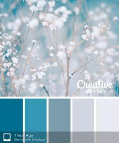 Tis the season for frosty hues to get inspired. Whether its for graphic design, fashion or home decor, these 15 color palettes will guide your Winter creativity. Colour Pallette, Color Combos, Winter Colour Palette, Bedroom Colour Schemes Blue, Colour Combinations Interior, Color Schemes Colour Palettes, Blue Colour Palette, Winter Colors, Winter Blue
